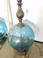 2- Vintage Globe Bottom Lamps