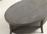 OVAL COFFEE TABLE (NOT ASSEMBLED)