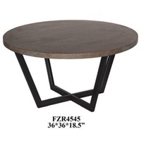 CRESTVIEW COLLECTION WOOD TOP TABLE 3' X 3'