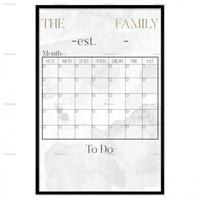 "FAMILY BOARD GRAY 16"" X 24"" FRAMED ART"