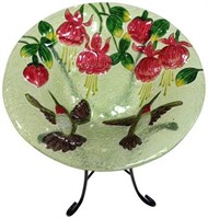 CONTINENTAL ART CENTER BIRD BATH GLASS BOWL 13""
