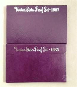 US. MINT 1985 & 1987 US. MINT PROOF SETS Zum Verkaufen - 1 ...