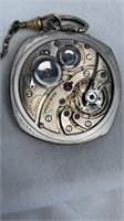 Antique Gruen very thin men's pocket watch with
