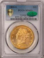$20 1880-S PCGS MS65+ CAC