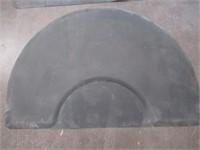 (2) Semi-Circle floor Mats for Salon Chairs