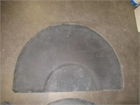 (2) Semi-Circle Floor Mats for Salon Chairs