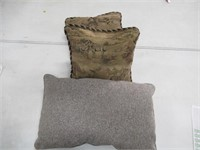 (3) Assorted Throw Pillows