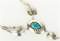 Jewelry Sterling Silver Turquoise Necklace