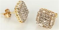 Jewelry 10kt Yellow Gold Diamond Earrings