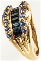 Jewelry 10kt Yellow Gold Two Toned Stone Ring