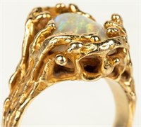 Jewelry 14kt Yellow Gold Opal Cocktail Ring
