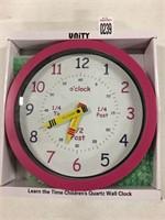 CHILDREN'S QUARTZ WALL CLOCK