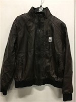 CALVIN KLEIN MEN'S LEATHER JACKET SIZE MEDIUM