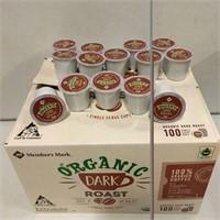 ORGANIC DARK ROAST 100% ARABICA COFFEE 100 PODS