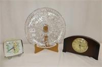 "PW Relish Plate 11.5""D, Tinkerbell Alarm Clock"