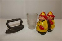 Crockery Jug, Dr. Perkins Measuring Glass, etc.