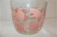 Teapot, 8 Pce. Pink Elephant Bar Set