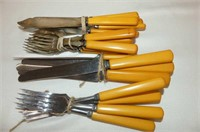 Set of Dinkee Knives, One Piece Marmalade Dish