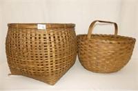 2 Woven Baskets