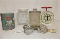 Way-Rite Scale, 2 Cannister Jars (chips)