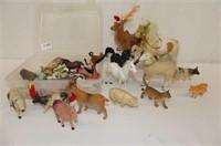 Carrying Case, Fuzzy Horse, Reindeer, Lamb Figures