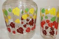 8 Pc. Autumn Leaf Pitcher & Glass Set