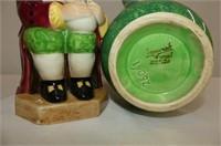 Platter, Beswick Pitcher, 2 Candle Holders