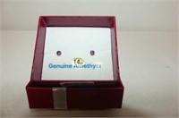 14 kt. Yellow Gold 3mm Amethyst Stud Earrings