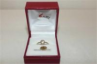 10 kt. Yellow Gold 5mm Morganite Bezel Ring
