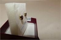 10 kt. Yellow Gold 6 mm Garnet Stud Earrings
