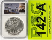 Coin 2015 American Silver Eagle NGC MS69