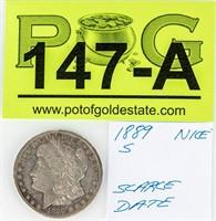 Coin 1889-S Morgan Silver Dollar Nice!