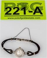 Jewelry Platinum Diamond Linz Wrist Watch