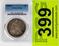 Coin 1859-O Liberty Seated Dollar PCGS VF20