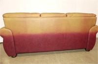 Wine Leather Sofa