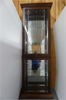 Curio Cabinet w/Etched Glass Front
