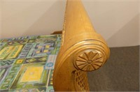Cane Sleigh-Style Single Bed