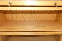 5-Section Oak Barrister's Bookcase