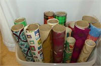 Christmas Wrap in Storage Container + 3 Rolls