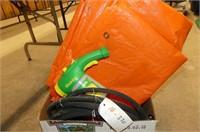 Miracle Gro Sprayer, Orange Tarp, Soaker Hose