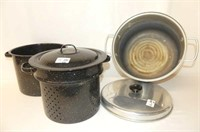 2 Pc. Granite Steamer, Canning Kettle w/Lid