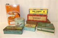 Cigar Boxes, Cigarette Tins, Ontario Maple Syrup