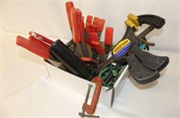 Assorted Clamps, Small Pry Bar