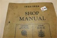 4 Shop Manuals - Chrysler 1955-56, Tempest 1962