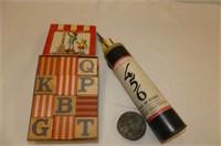 Pick Up Sticks & Blocks - Alphabet/Picture Puzzle