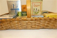 Shallow Woven Basket, Containers