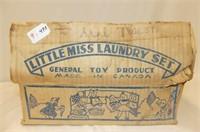 Little Miss Laundry Set w/Box (damaged)