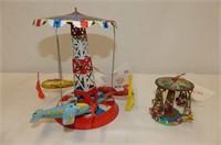 """Vintage Airplane Carousels (2)   2.5 & 6.5""""H"""