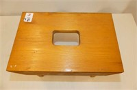"""3 Gavels, Wooden Stool   12Lx8Wx9""""H"""