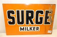 Metal Surge Milker Sign